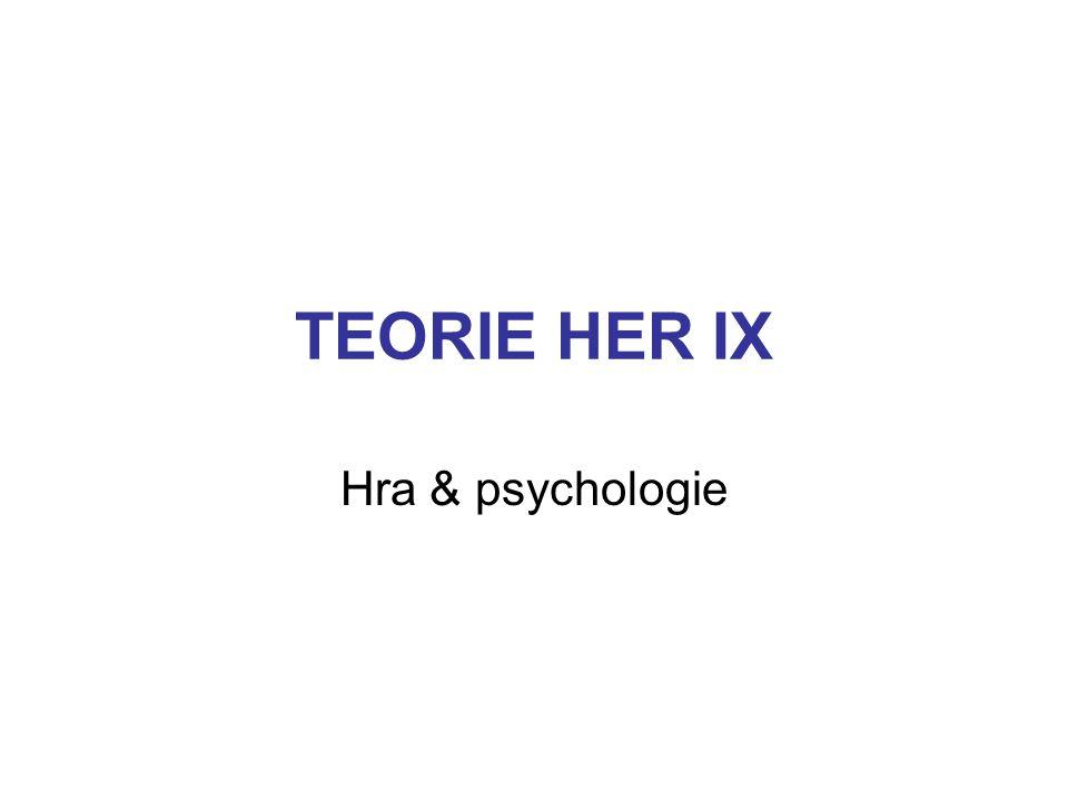 HRA & PSYCHOLOGIE - témata 1.Psychologie hry 2.