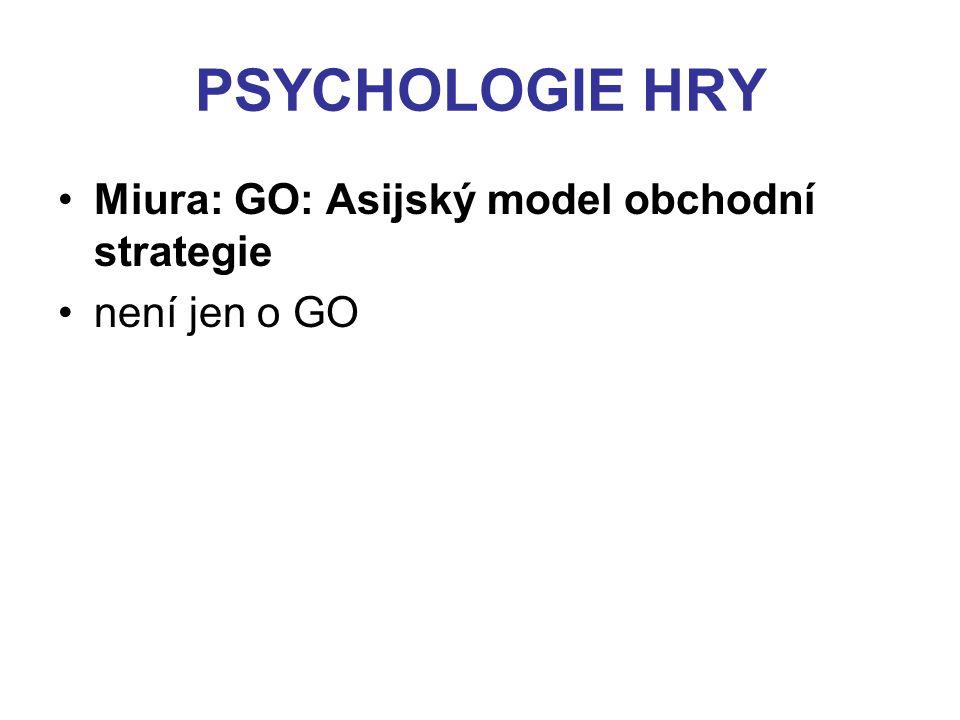 PSYCHOLOGIE HRY Miura: GO: Asijský model obchodní strategie není jen o GO