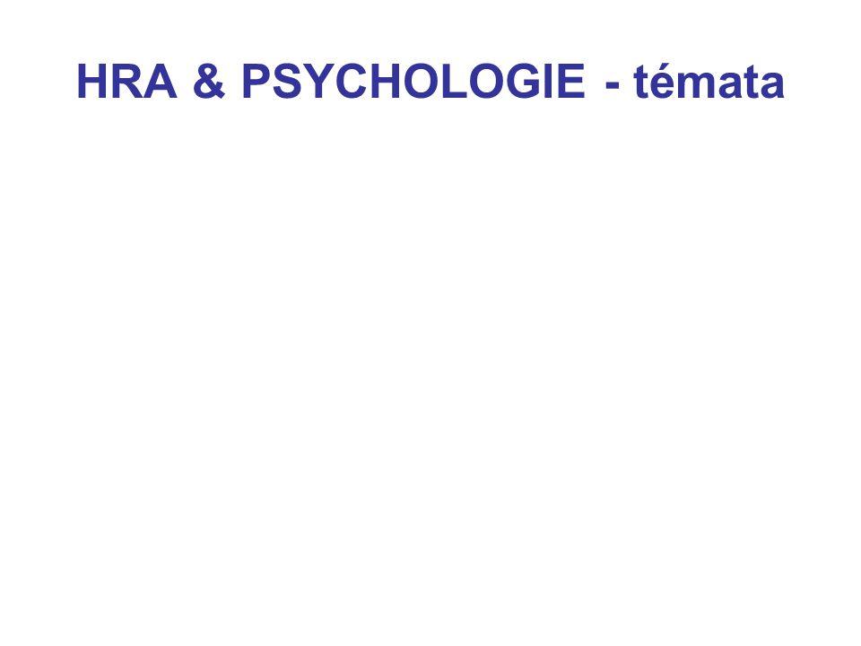 1. Psychologie hry