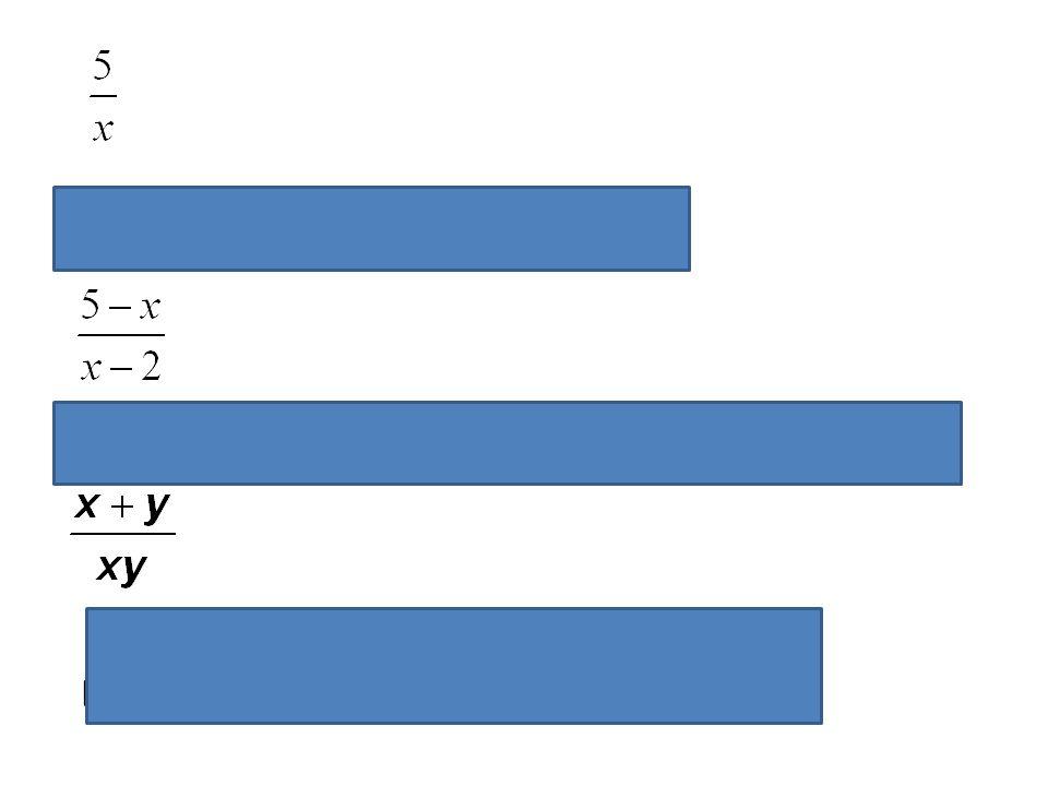 Výraz má smysl pro R - {0}, hodnota výrazu bude vždy různá od nuly Výraz má smysl pro R - {2}, hodnota výrazu bude rovna nule pro x = 5. Podmínka plat