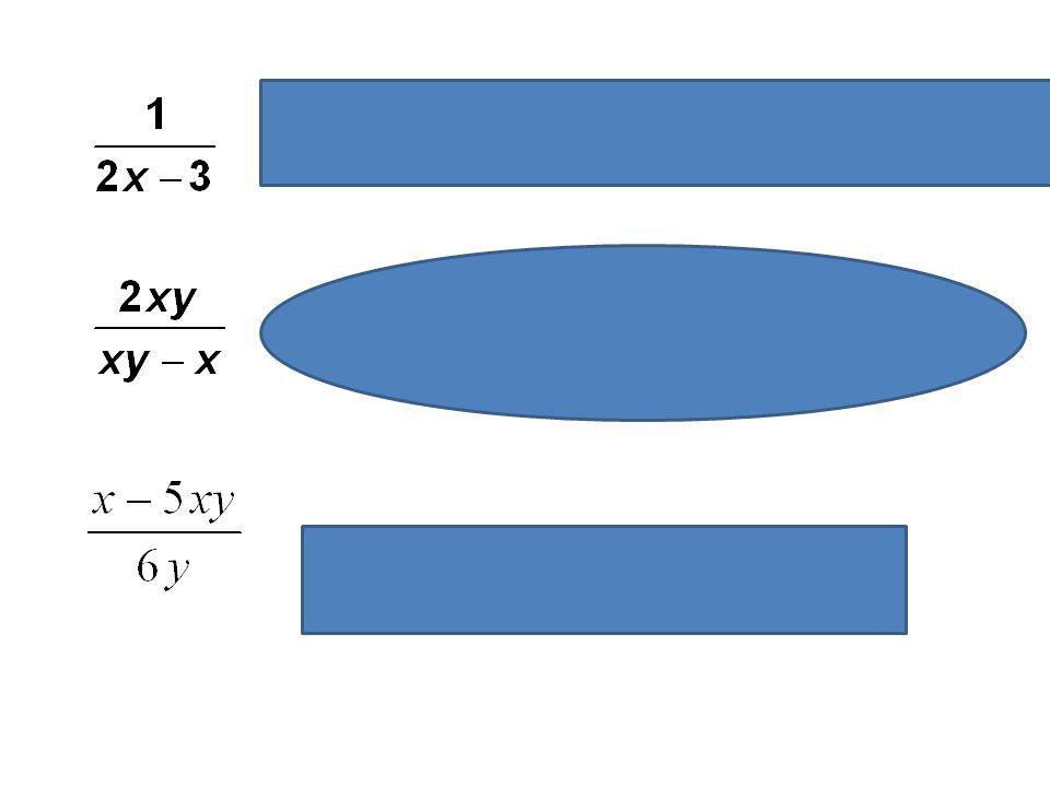 Výraz má smysl pro R - {1,5}, hodnota výrazu bude vždy různá od nuly Výraz má smysl pro x náležející R - {0} a pro y náležející R - {1}. Hodnota výraz
