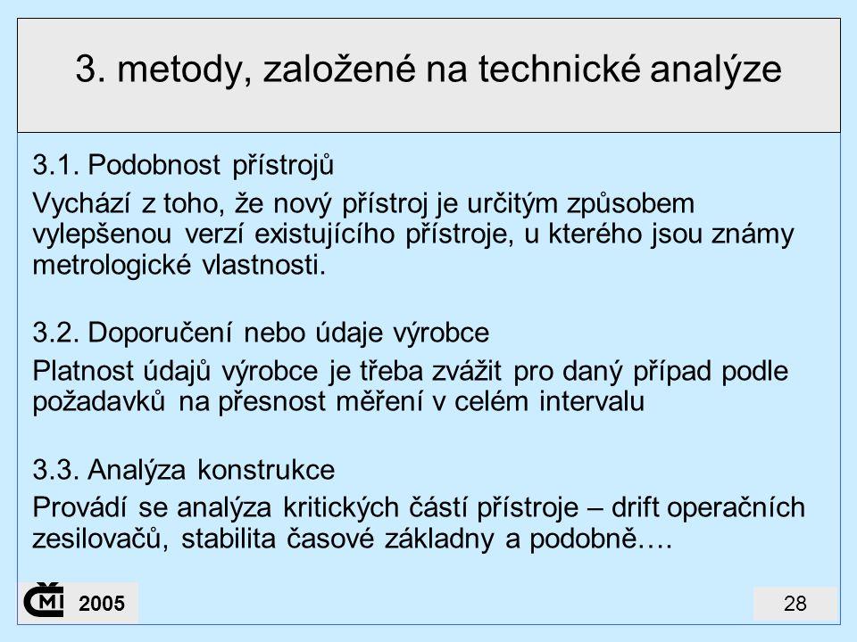282005 3. metody, založené na technické analýze 3.1. Podobnost přístrojů Vychází z toho, že nový přístroj je určitým způsobem vylepšenou verzí existuj