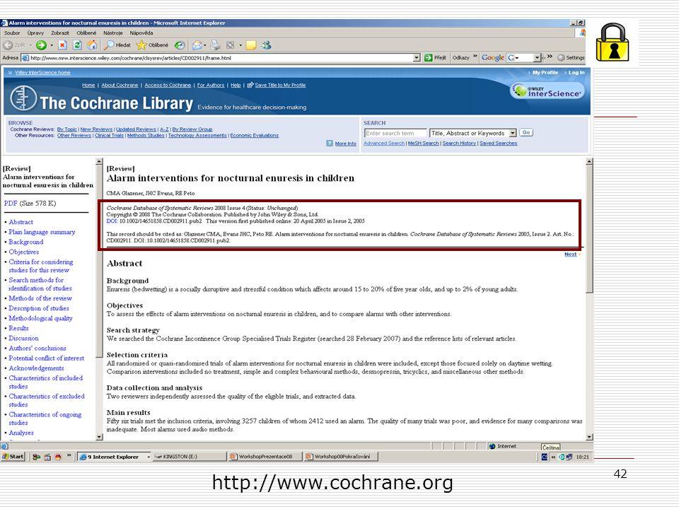 42 http://www.cochrane.org