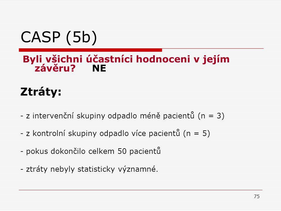 75 CASP (5b) Byli všichni účastníci hodnoceni v jejím závěru.