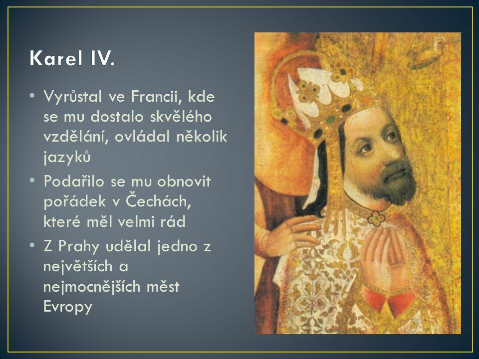 Vyrůstal ve Francii, kde se mu dostalo skvělého vzdělání, ovládal několik jazyků Podařilo se mu obnovit pořádek v Čechách, které měl velmi rád Z Prahy