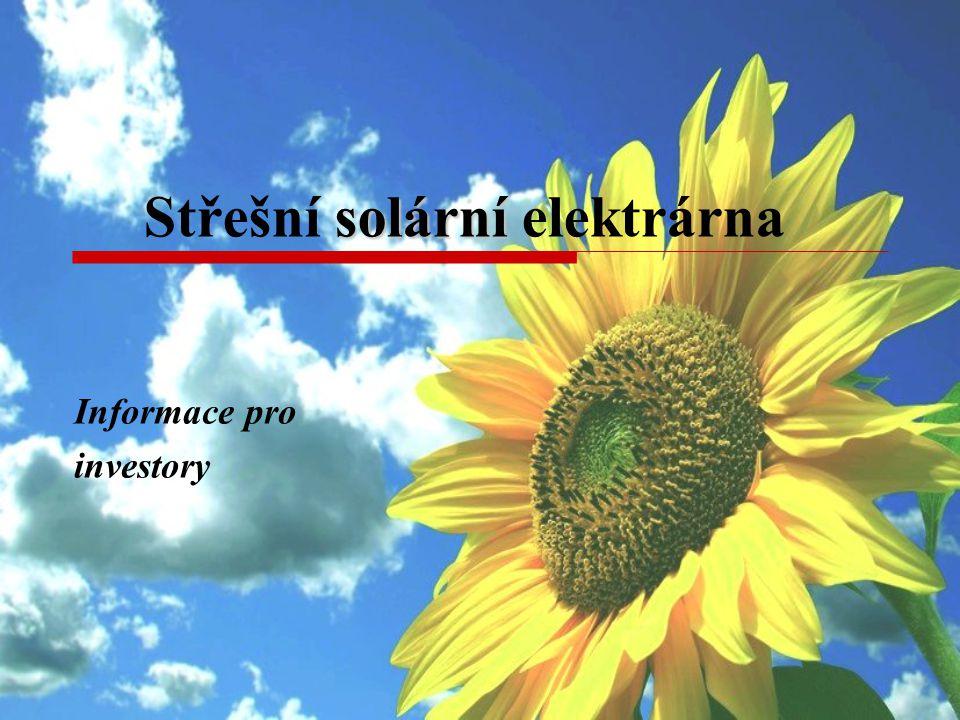 solární Střešní solární elektrárna Informace pro investory