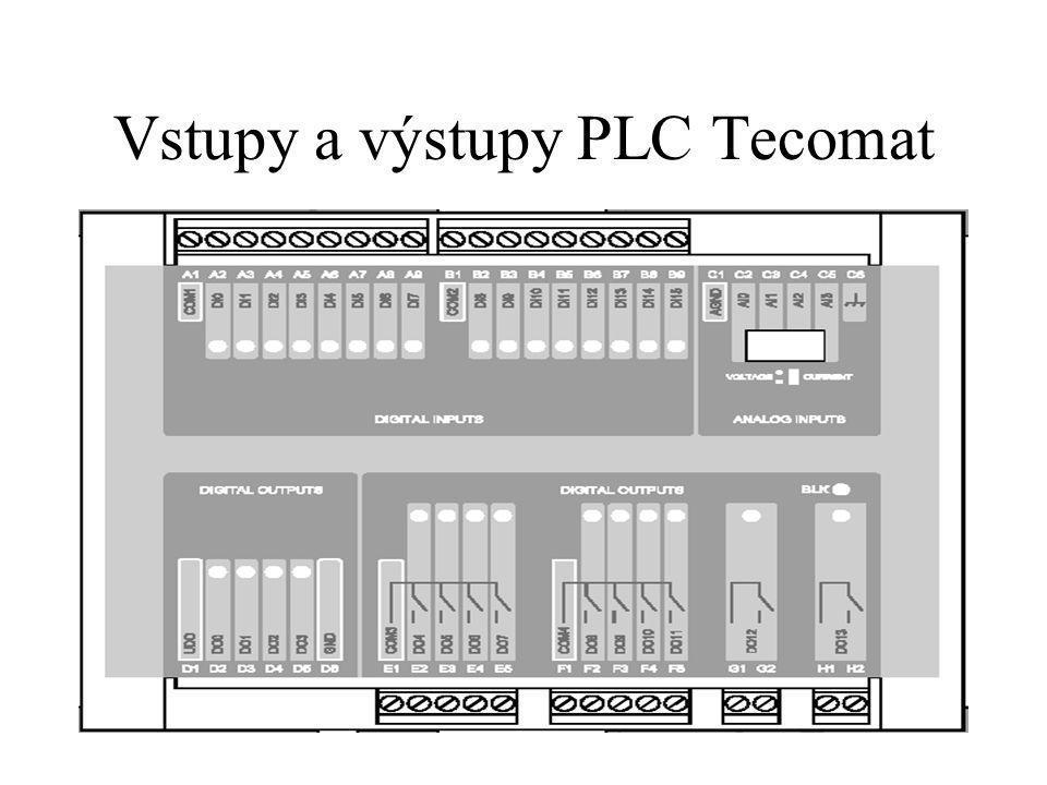 Vstupy a výstupy PLC Tecomat