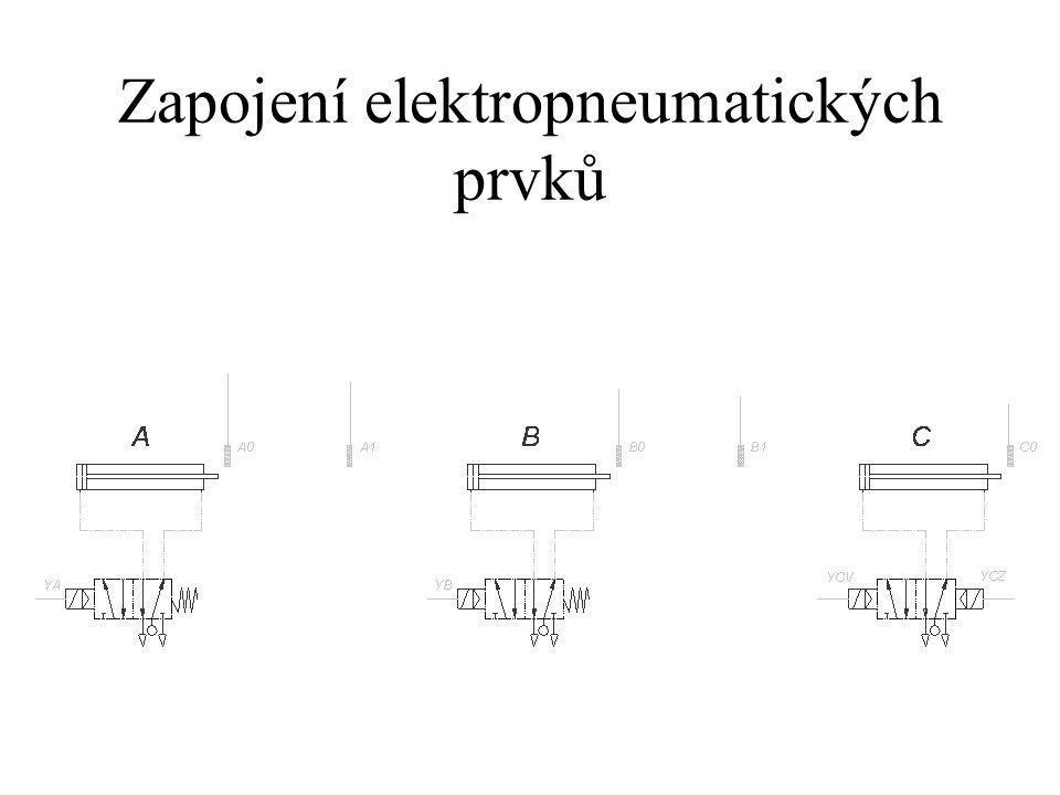 Zapojení elektropneumatických prvků