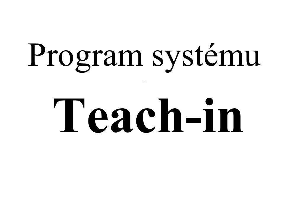 Program systému. Teach-in