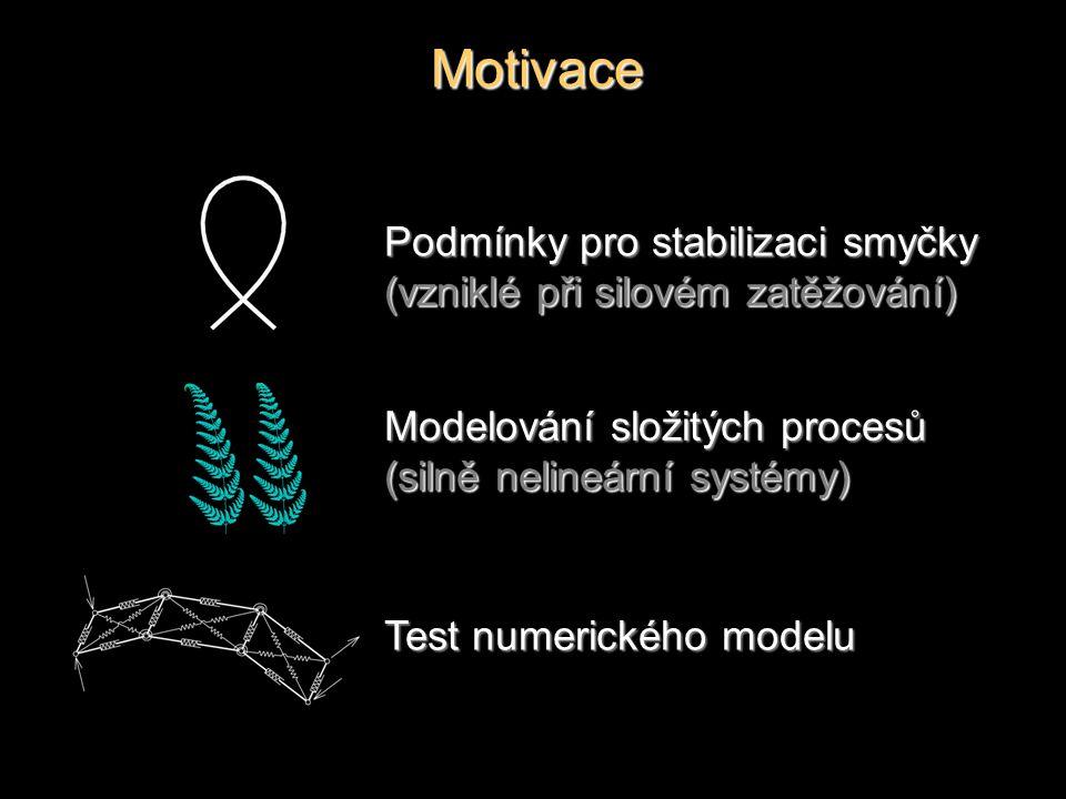 Motivace Modelování složitých procesů (silně nelineární systémy) Podmínky pro stabilizaci smyčky (vzniklé při silovém zatěžování) Test numerického mod