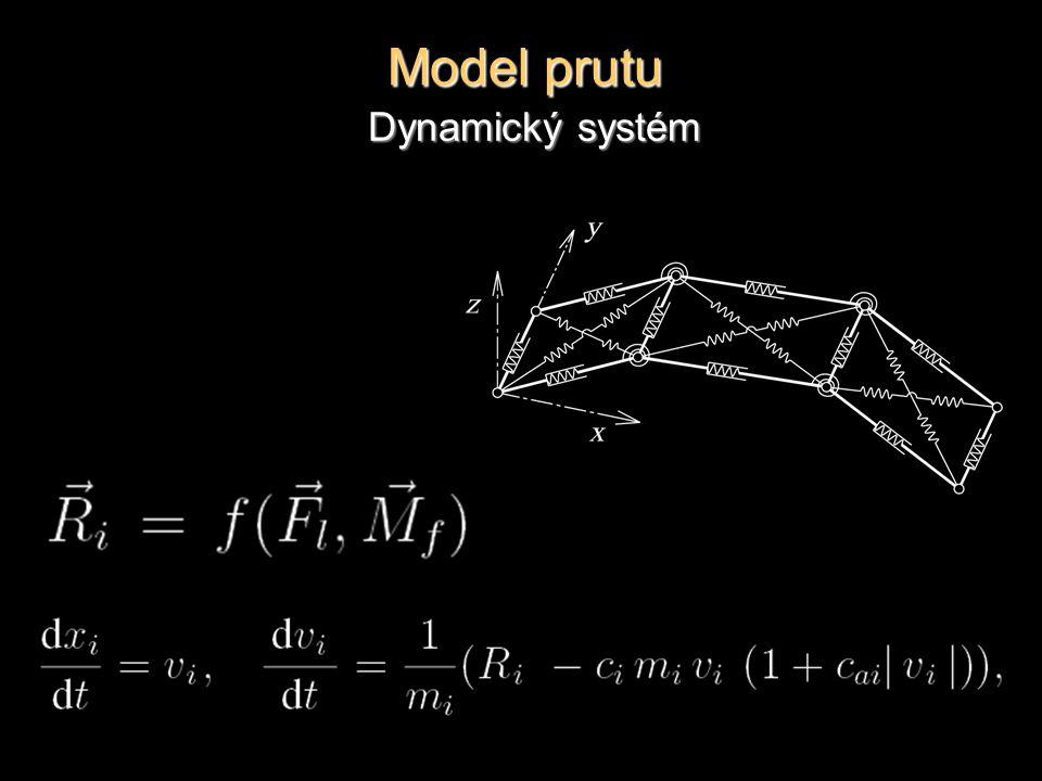 Model prutu Dynamický systém
