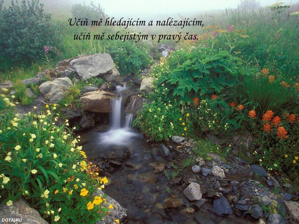 Učiň mě hledajícím a nalézajícím, učiň mě sebejistým v pravý čas.