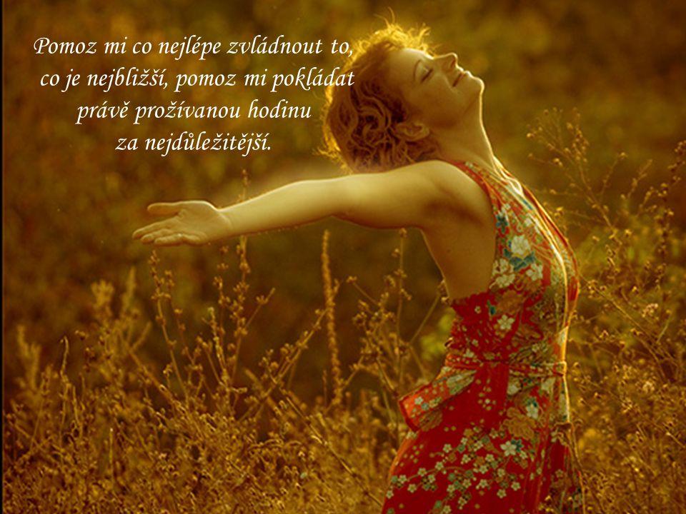Dovol mi přesvědčit se o tom, že snít o minulosti či budoucnosti mi nepomůže.