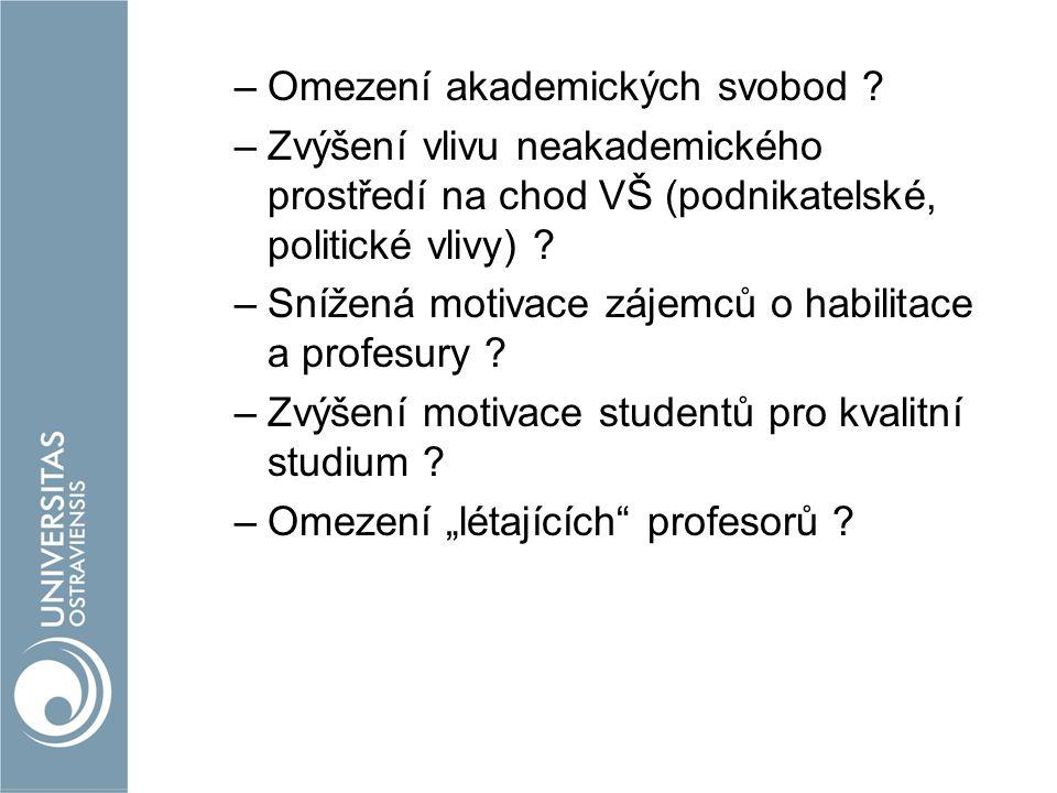 –Omezení akademických svobod .