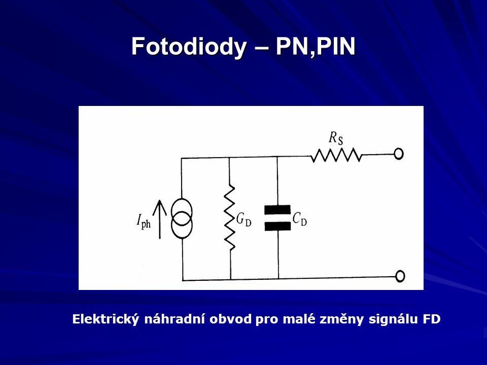 Fotodiody – PN,PIN Elektrický náhradní obvod pro malé změny signálu FD
