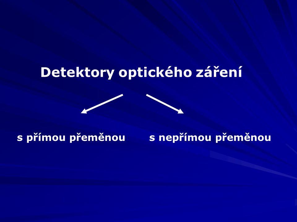 Detektory optického záření s přímou přeměnous nepřímou přeměnou