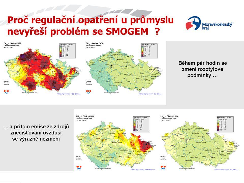 Proč regulační opatření u průmyslu nevyřeší problém se SMOGEM .