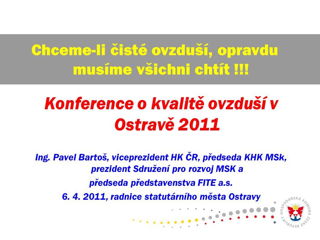 Konference o kvalitě ovzduší v Ostravě 2011 Ing.