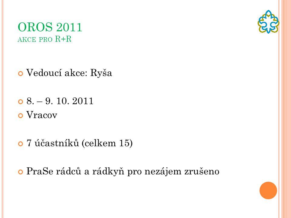 OROS 2011 AKCE PRO R+R Vedoucí akce: Ryša 8.– 9. 10.