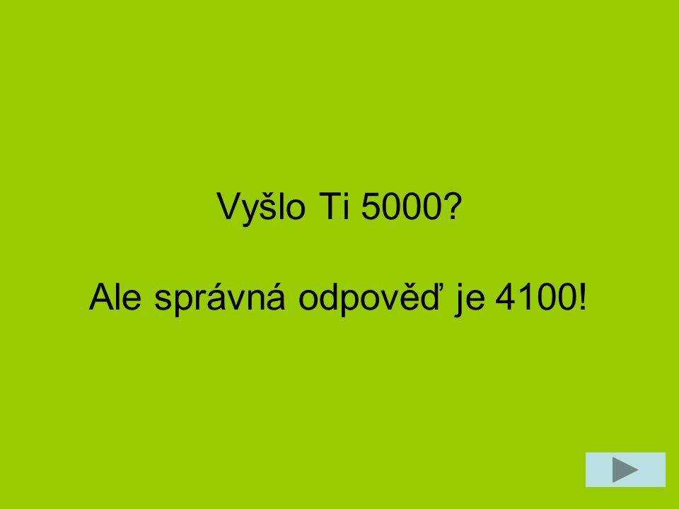 Máš 1000 Kč.