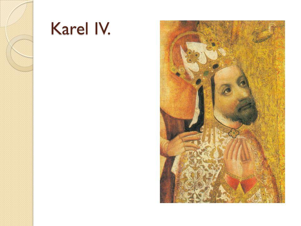 Zpátky do Čech Do Čech přijel v roce 1333 Titul markrabě moravský Fakticky vládl za nepřítomného otce Nejprve se snažil získat zpět královské majetky Navazuje styky s důležitými a vlivnými osobnostmi království