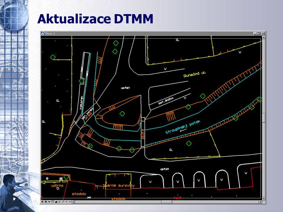 Aktualizace DTMM - jednotný polohopis Aktualizace DTMM