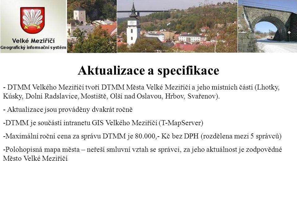 Aktualizace a specifikace - DTMM Velkého Meziříčí tvoří DTMM Města Velké Meziříčí a jeho místních částí (Lhotky, Kúsky, Dolní Radslavice, Mostiště, Ol