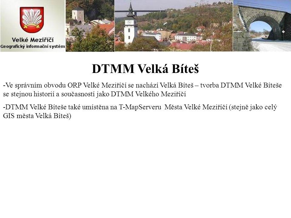 DTMM Velká Bíteš -Ve správním obvodu ORP Velké Meziříčí se nachází Velká Bíteš – tvorba DTMM Velké Bíteše se stejnou historií a současností jako DTMM