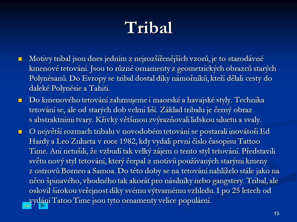 Obsah 15 Tribal Motivy tribal jsou dnes jedním z nejrozšířenějších vzorů, je to starodávné kmenové tetování.