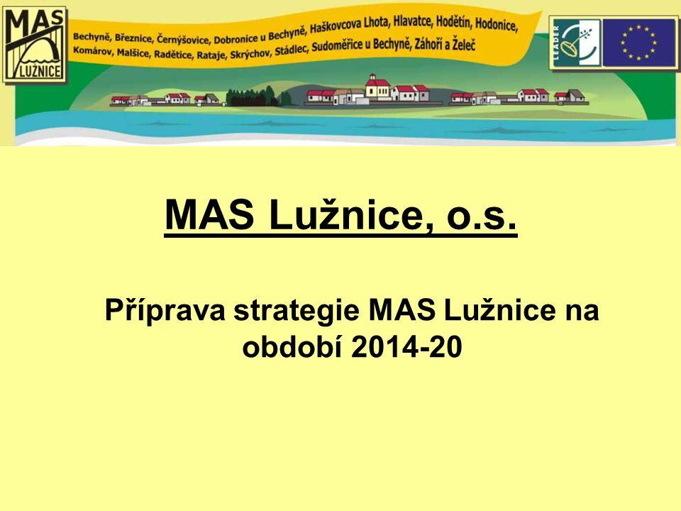 MAS Lužnice, o.s. Příprava strategie MAS Lužnice na období 2014-20