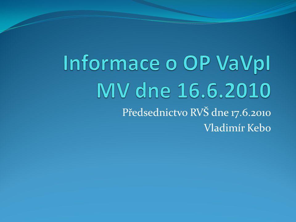 Předsednictvo RVŠ dne 17.6.2010 Vladimír Kebo