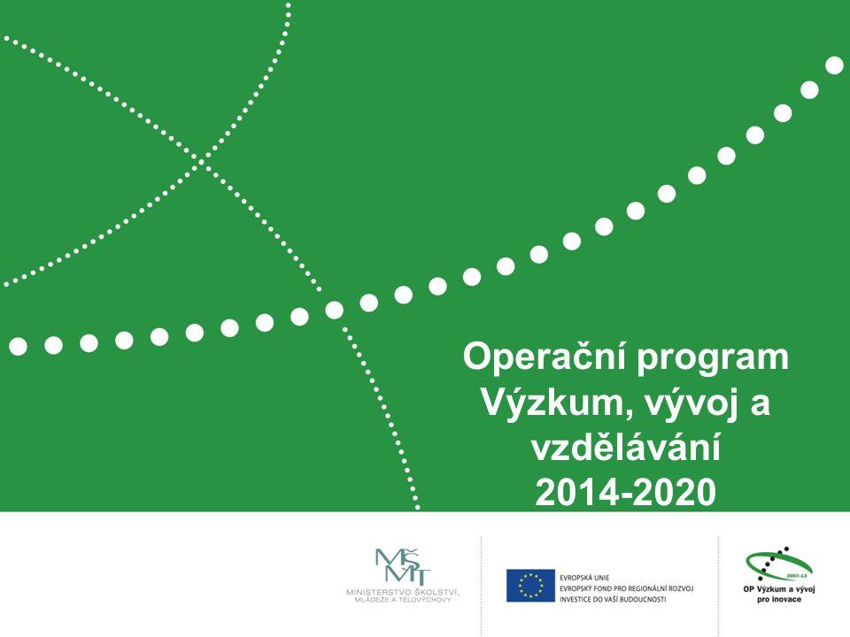 Operační program Výzkum, vývoj a vzdělávání 2014-2020
