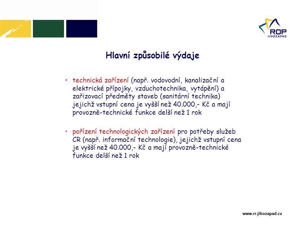 www.rr-jihozapad.cz www.rr-jihozapad.cz technická zařízení (např.