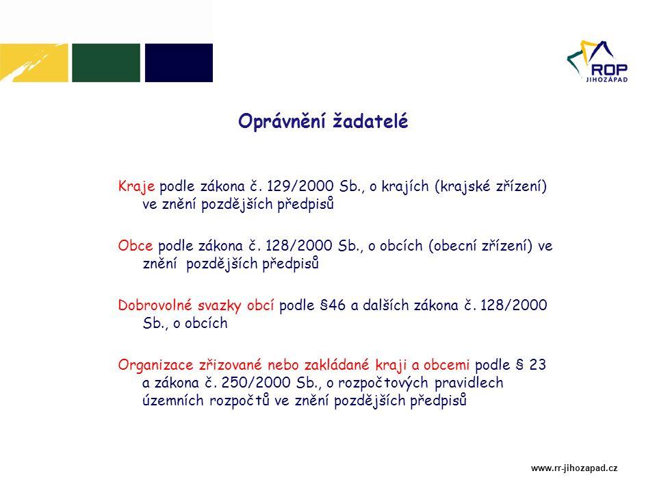 www.rr-jihozapad.cz Žádost je elektronický formulář, který je žadateli k dispozici na internetu v aplikaci Benefit7 na adrese: www.rr-jihozapad.cz www.euzadost.cz www.eu-zadost.cz Projektová žádost