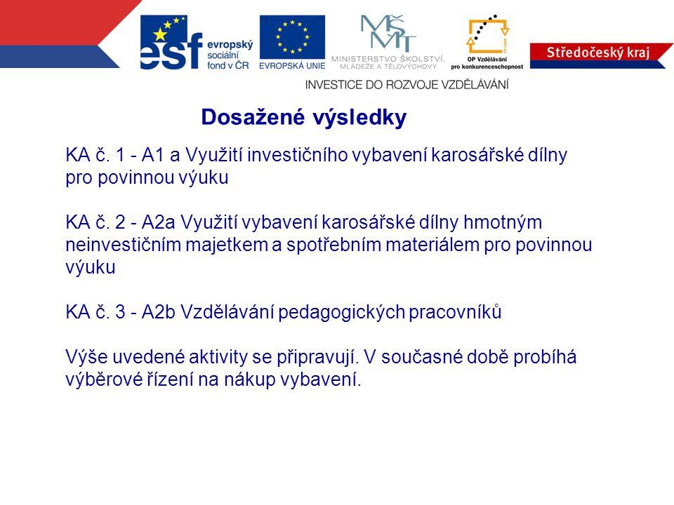 KA č. 1 - A1 a Využití investičního vybavení karosářské dílny pro povinnou výuku KA č.