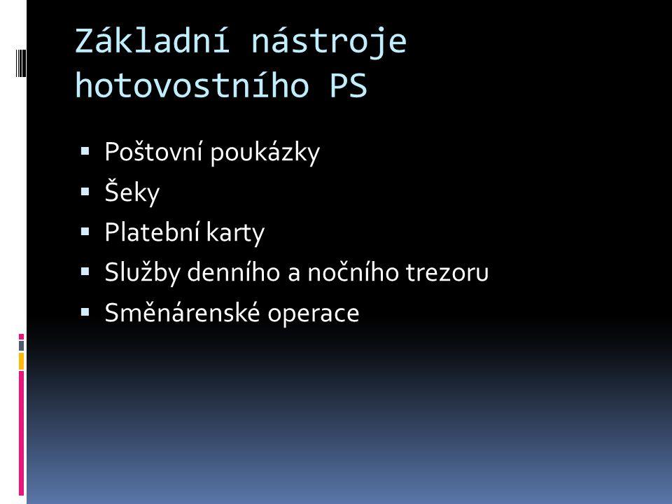 Právní úprava hotovostního PS  Zákon č.124/2002 Sb., o platebním styku  Zákon č.