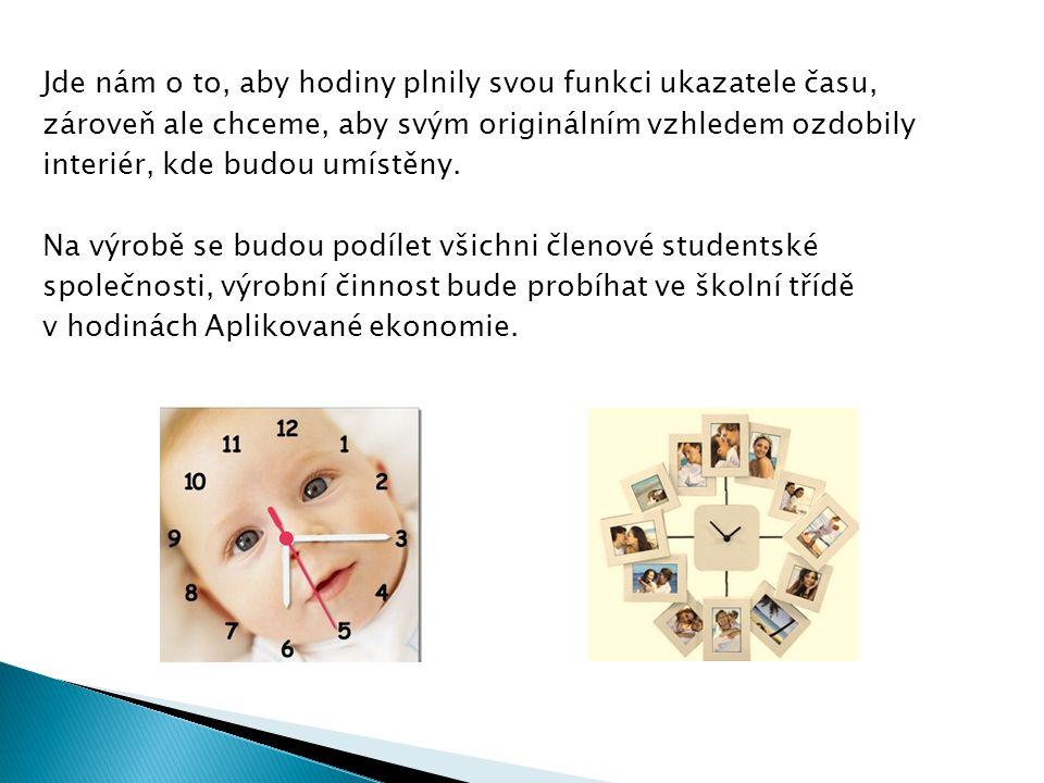Jde nám o to, aby hodiny plnily svou funkci ukazatele času, zároveň ale chceme, aby svým originálním vzhledem ozdobily interiér, kde budou umístěny.