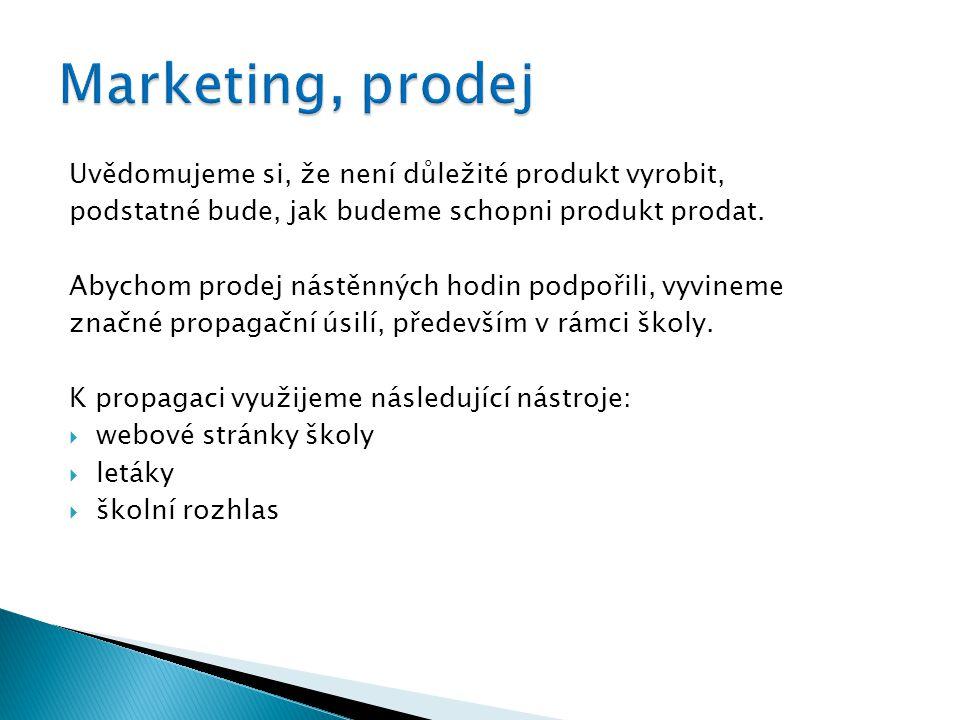 Uvědomujeme si, že není důležité produkt vyrobit, podstatné bude, jak budeme schopni produkt prodat.
