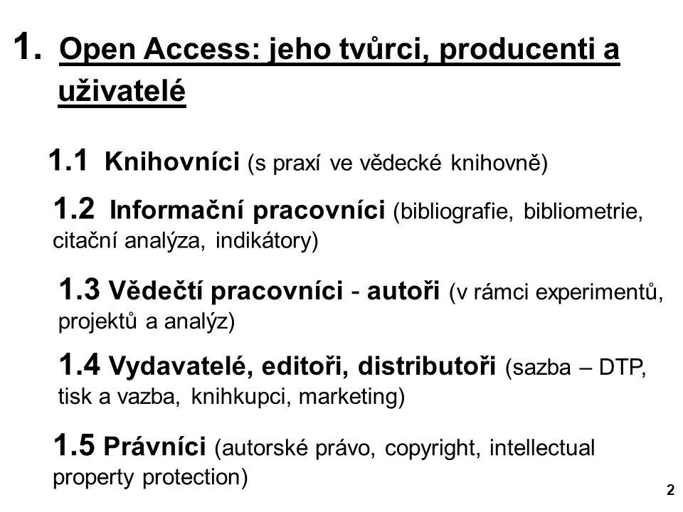 31.10.2012 Open Access (c) M.Špála 2012 23 INFORUM 2012 - 18.