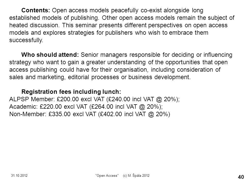 31.10.2012 Open Access (c) M.