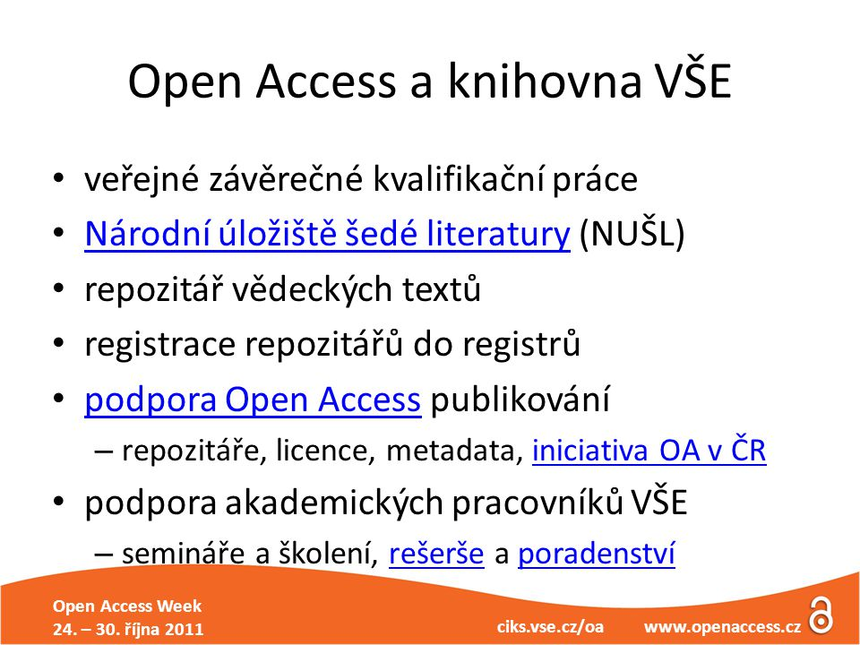 Open Access Week 24. – 30.