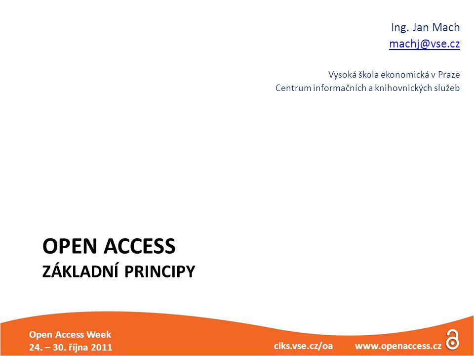 Open Access Week 24.– 30.