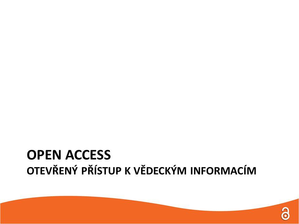 """Definice Open Access """" Zajištění otevřeného a volného přístupu k plným textům na veřejném internetu, dovolující uživatelům číst, stáhnout, kopírovat, distribuovat, tisknout, vyhledávat nebo propojovat plné texty článků, jejich procházení pro indexaci, zaznamenání ve formě dat v počítačových programech, nebo jejich užití pro jakýkoliv další zákonný záměr, bez finančních, právních nebo technických bariér, kromě nedílného a neoddělitelného dosažení samotného přístupu k internetu. (BOAI)"""