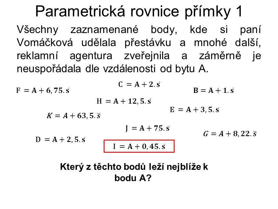 Všechny zaznamenané body, kde si paní Vomáčková udělala přestávku a mnohé další, reklamní agentura zveřejnila a záměrně je neuspořádala dle vzdálenosti od bytu A.