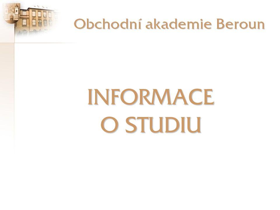 Obchodní akademie Beroun (státní škola) U Stadionu 486 266 37 Beroun 2 telefon:(+420) 311 653 011 fax:(+420) 311 622 392 e-mail:informace@oaberoun.cz web:http://www.oaberoun.cz Ředitel:Ing.