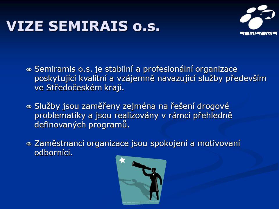 VIZE SEMIRAIS o.s.  Semiramis o.s. je stabilní a profesionální organizace poskytující kvalitní a vzájemně navazující služby především ve Středočeském