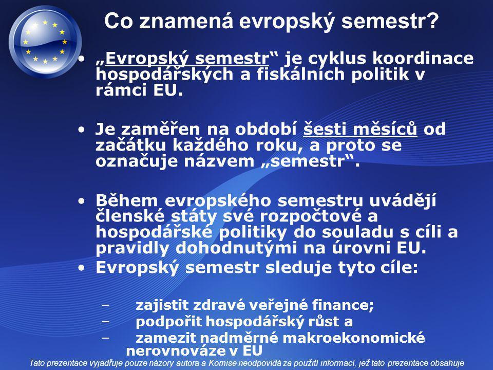 Co znamená evropský semestr.