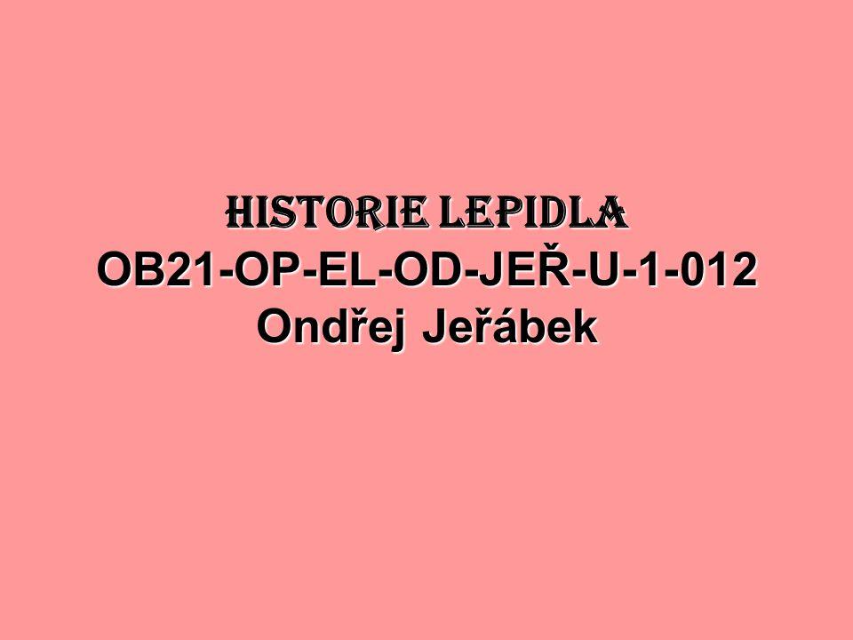 HISTORIE LEPIDLA OB21-OP-EL-OD-JEŘ-U-1-012 Ondřej Jeřábek