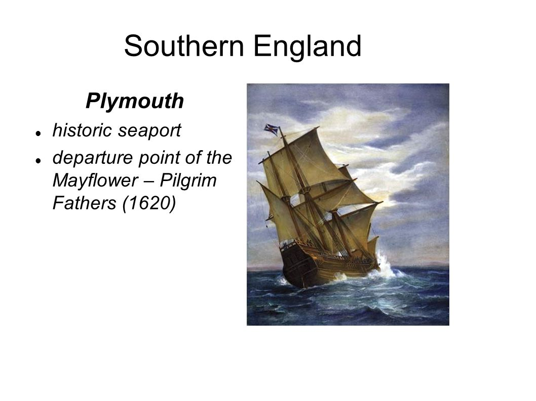 Southern England Plymouth historic seaport departure point of the Mayflower – Pilgrim Fathers (1620)