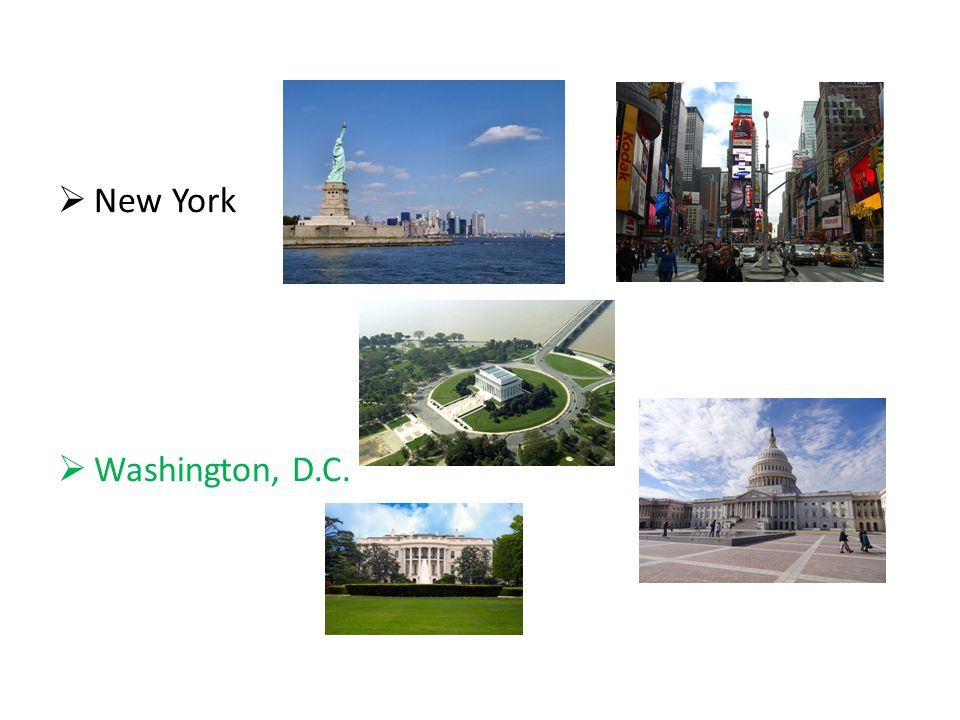  New York  Washington, D.C.